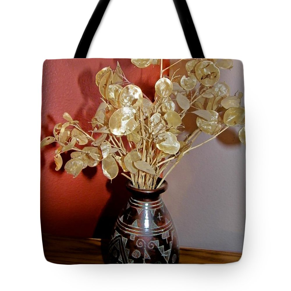 Plant Life Tote Bag featuring the photograph Plant Life In Vase by Lenore Senior