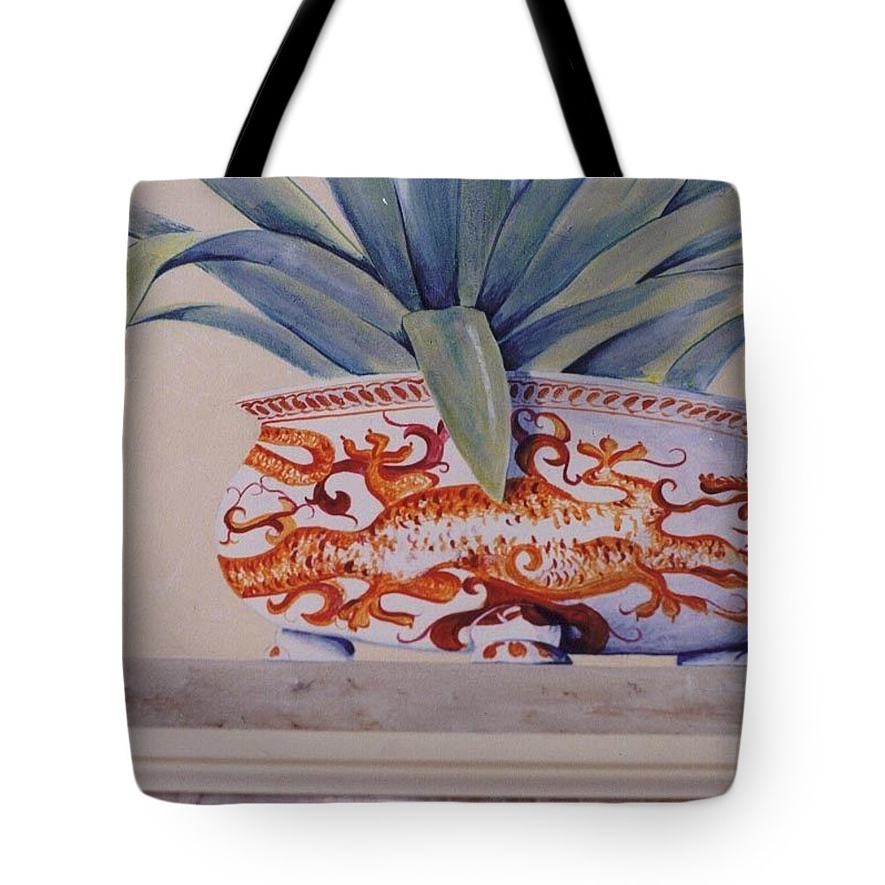 Tote Bag featuring the painting Planter Close Up by Thomas Lupari