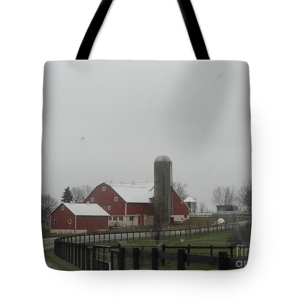 Amish Tote Bag featuring the photograph Planting On The Homestead by Christine Clark