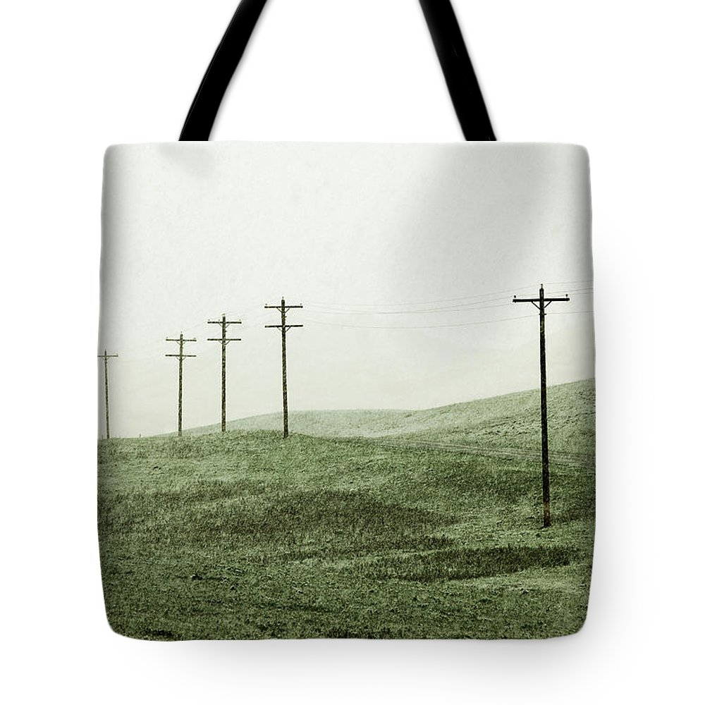 Snow Tote Bag featuring the photograph Plasticine Fields by Todd Klassy