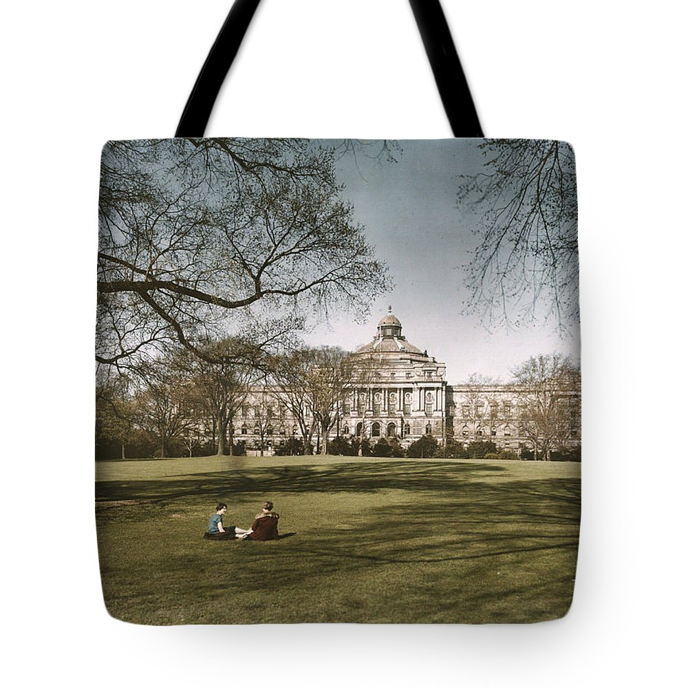 library Of Congress Tote Bag featuring the photograph Plate 8 X 10 by Charles Martin
