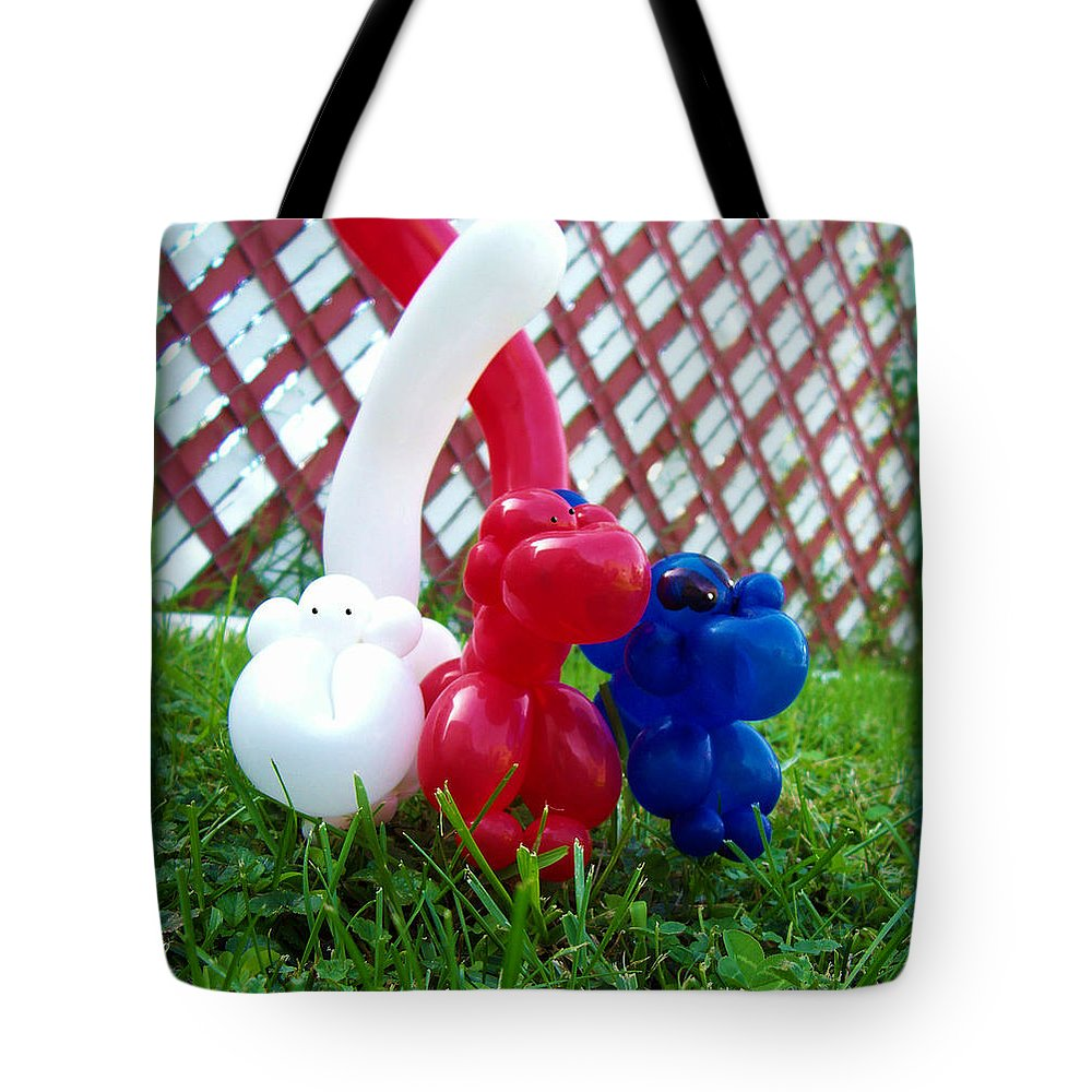 Shawna Rowe Tote Bag featuring the photograph Playful Balloon Monkeys by Shawna Rowe