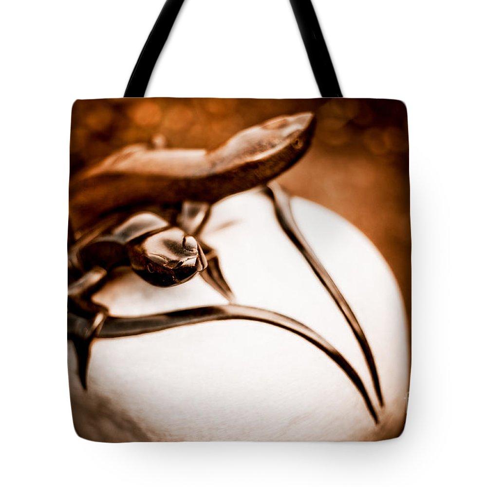 Art Tote Bag featuring the photograph Playful Lizard by Venetta Archer