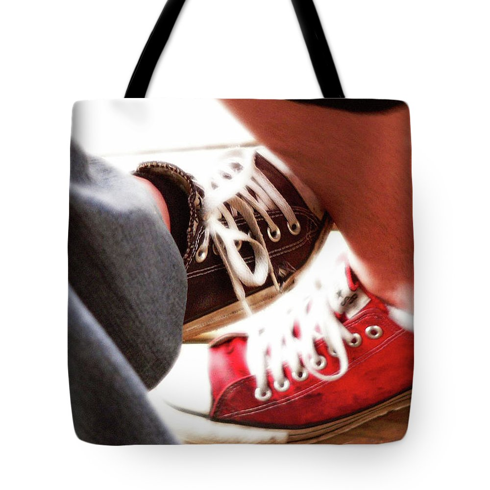 Love Tote Bag featuring the photograph Playing Footsie by Angela Wright