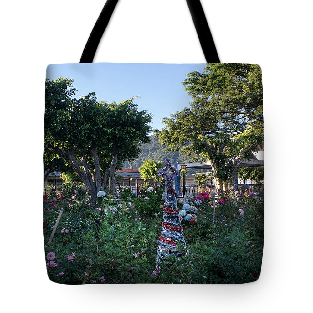 Apaneca Tote Bag featuring the photograph Plaza Central Apaneca 1 by Totto Ponce