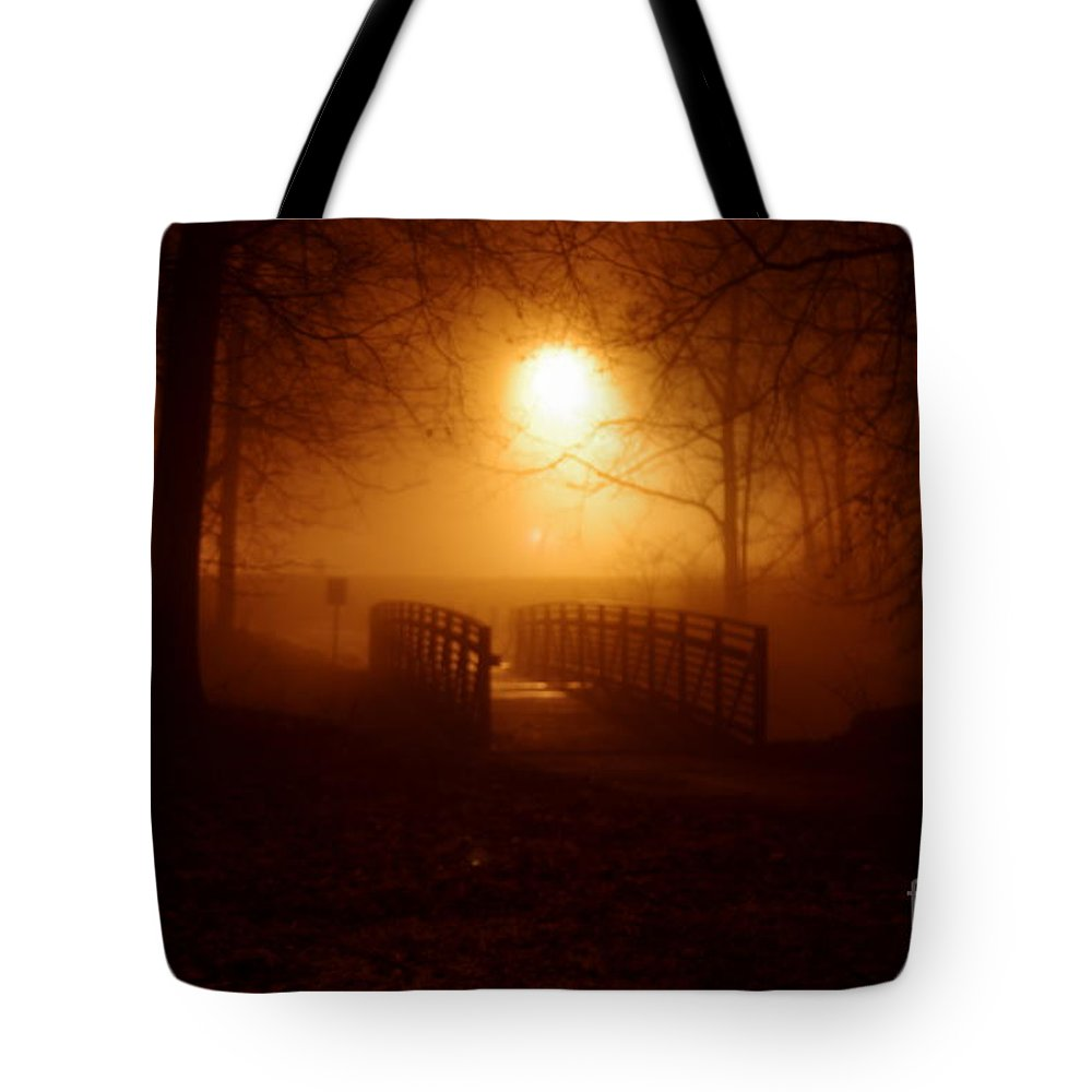 Tote Bag featuring the photograph Pleasant Run Bridge by Kitrina Arbuckle