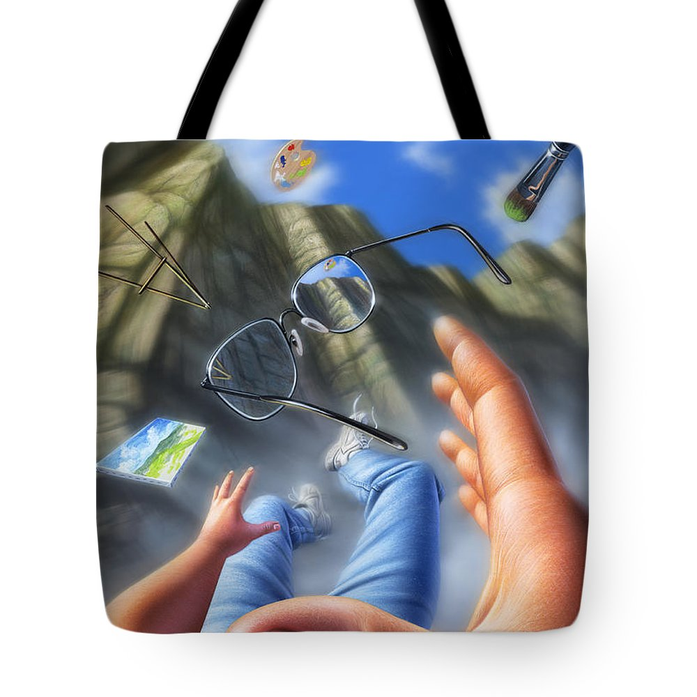 Art Tote Bag featuring the mixed media Plein Air by Jerry LoFaro