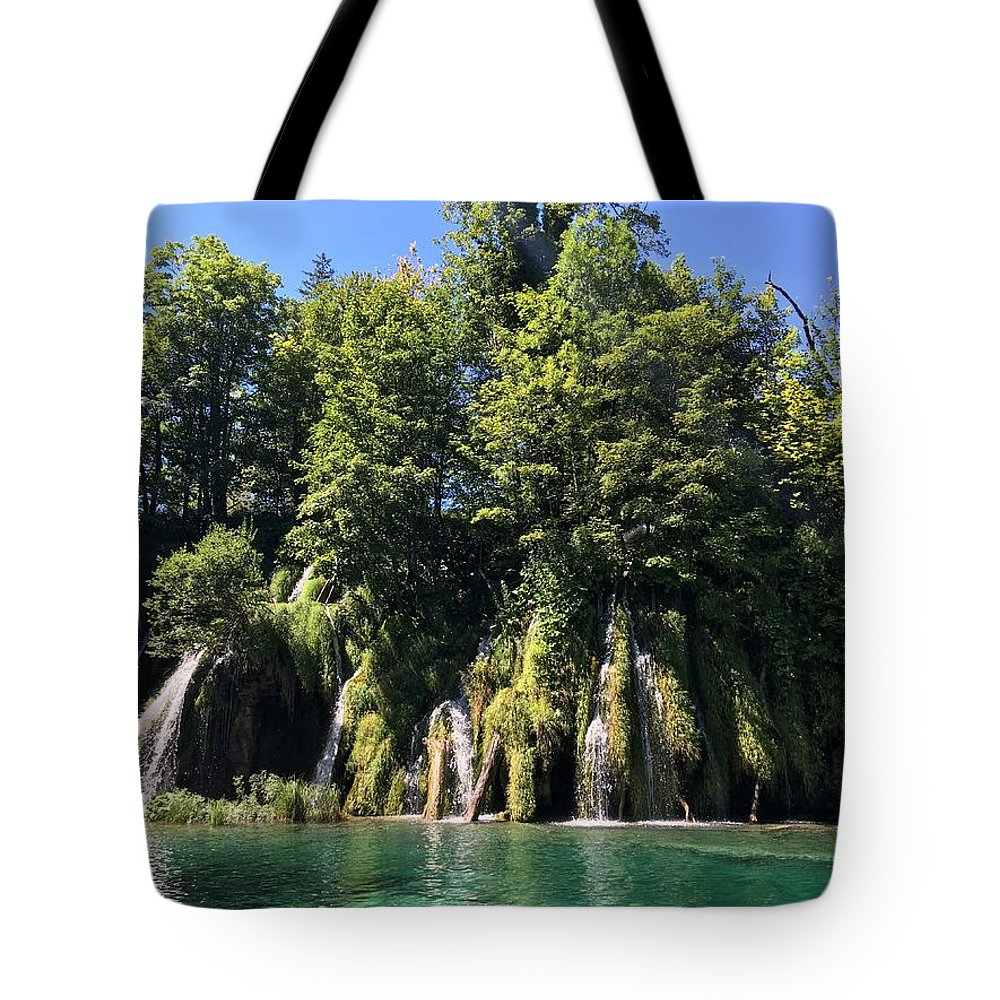 Plitvice Tote Bag featuring the photograph Plitvice Falls by Christine Rivers