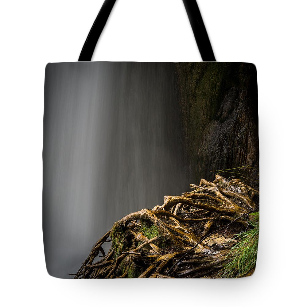 Plitvice Tote Bag featuring the photograph Plitvice Waterfalls by Peter Mojzes