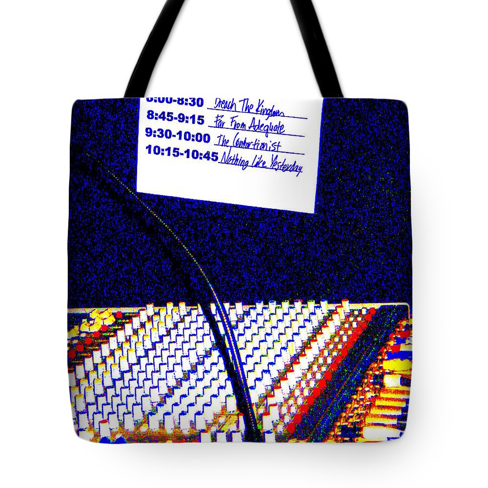 Still Life Tote Bag featuring the photograph Plugged In by Ed Smith