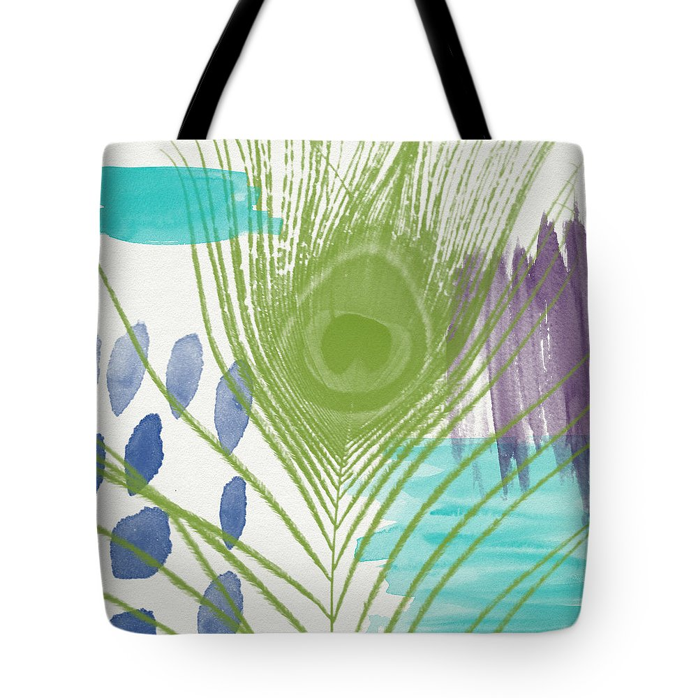 Peacock Tote Bag featuring the painting Plumage 4- Art By Linda Woods by Linda Woods
