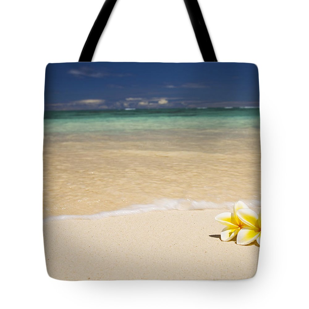 Afternoon Tote Bag featuring the photograph Plumeria Pair by Tomas del Amo - Printscapes