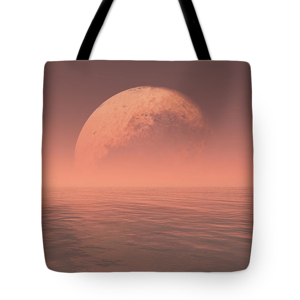 Earth Tote Bag featuring the digital art Pluto by Jay Salton