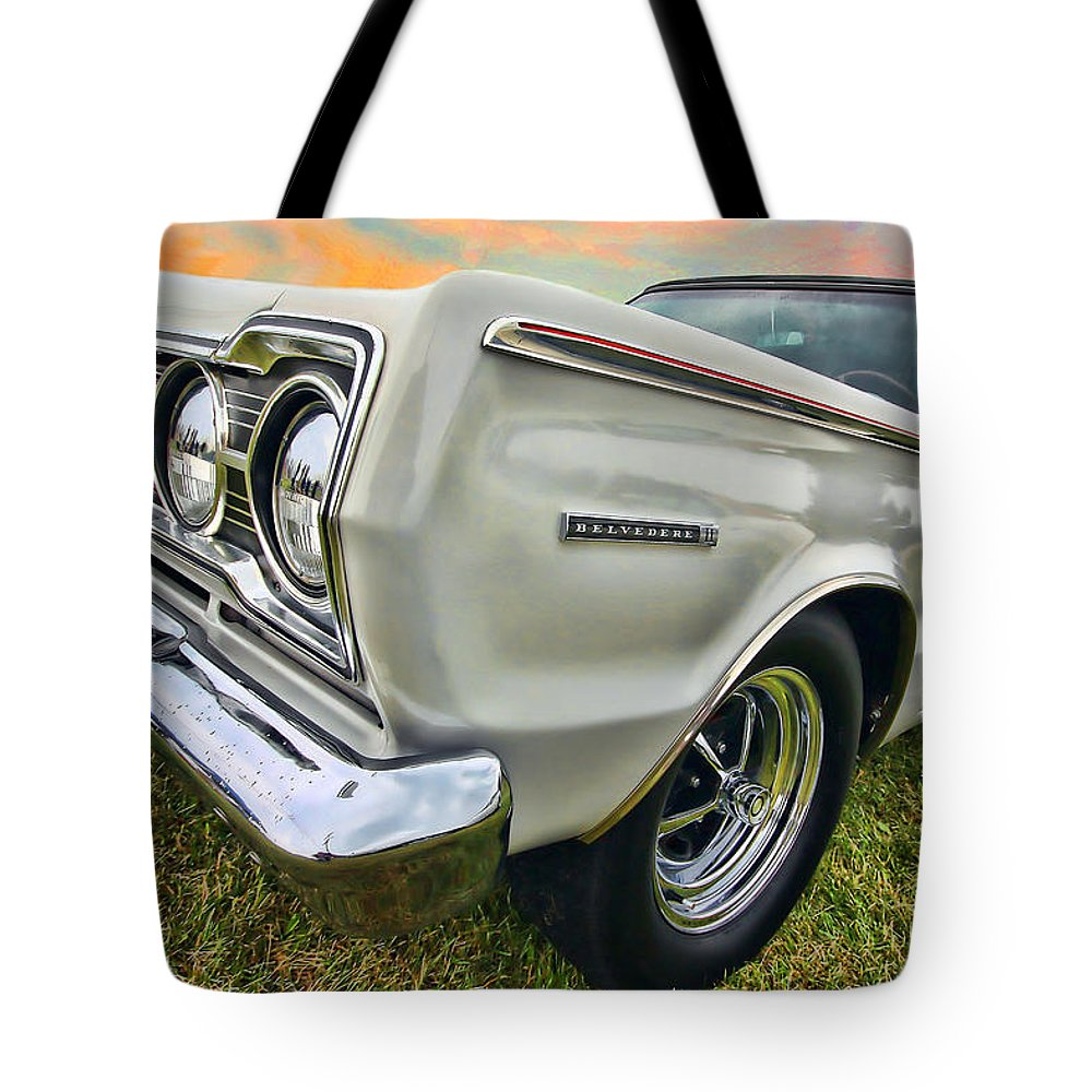 1967 Tote Bag featuring the photograph Plymouth Belvedere II by Gordon Dean II