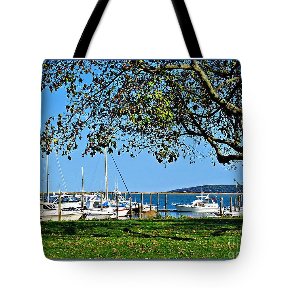 Atlantic Tote Bag featuring the photograph Plymouth Harbor by Joan Minchak