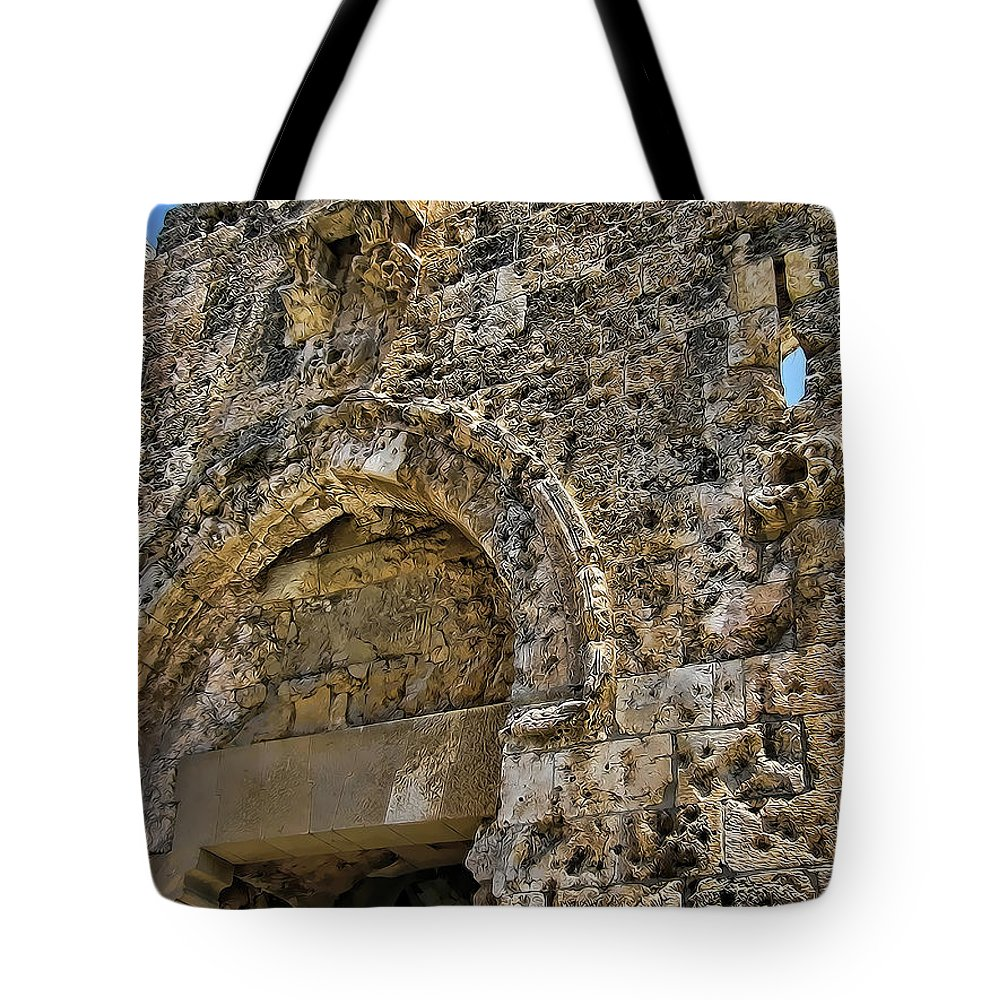 Six Day War Tote Bag featuring the photograph Pockmarks Of War by Douglas Barnard