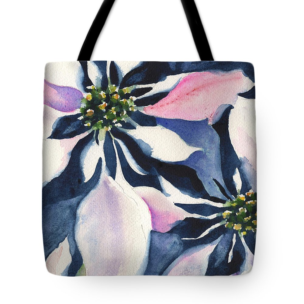 Poinsettia Tote Bag featuring the painting Poinsettia by Marsha Elliott