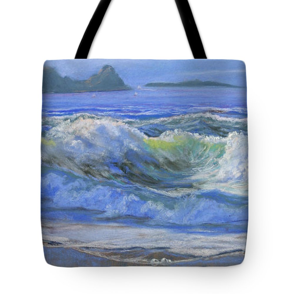 Seascape Tote Bag featuring the painting Point Reyes by Heather Coen