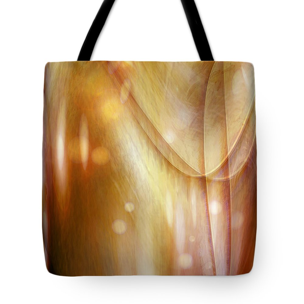 Abstract Art Tote Bag featuring the digital art Points Of Light by Linda Sannuti