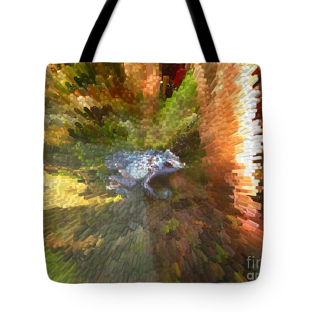 Frog. Blue Tote Bag featuring the digital art Poison Blue Dart Frog by Donna Brown