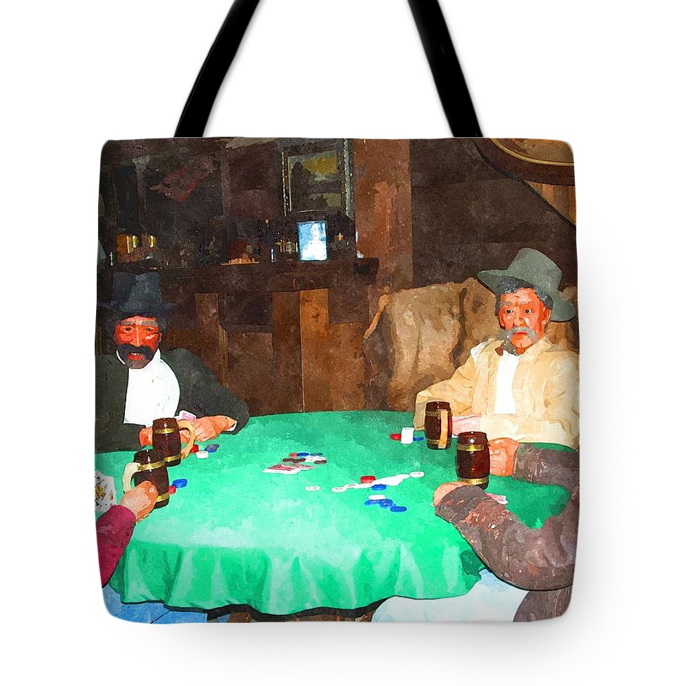 Idaho City Tote Bag featuring the photograph Poker by Image Takers Photography LLC - Laura Morgan