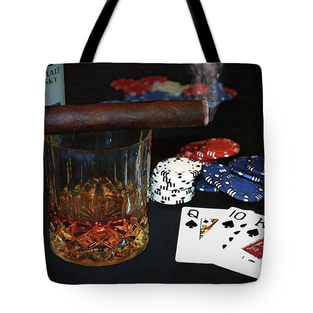 Man Cave Tote Bag featuring the photograph Poker Night by Coleman Mattingly