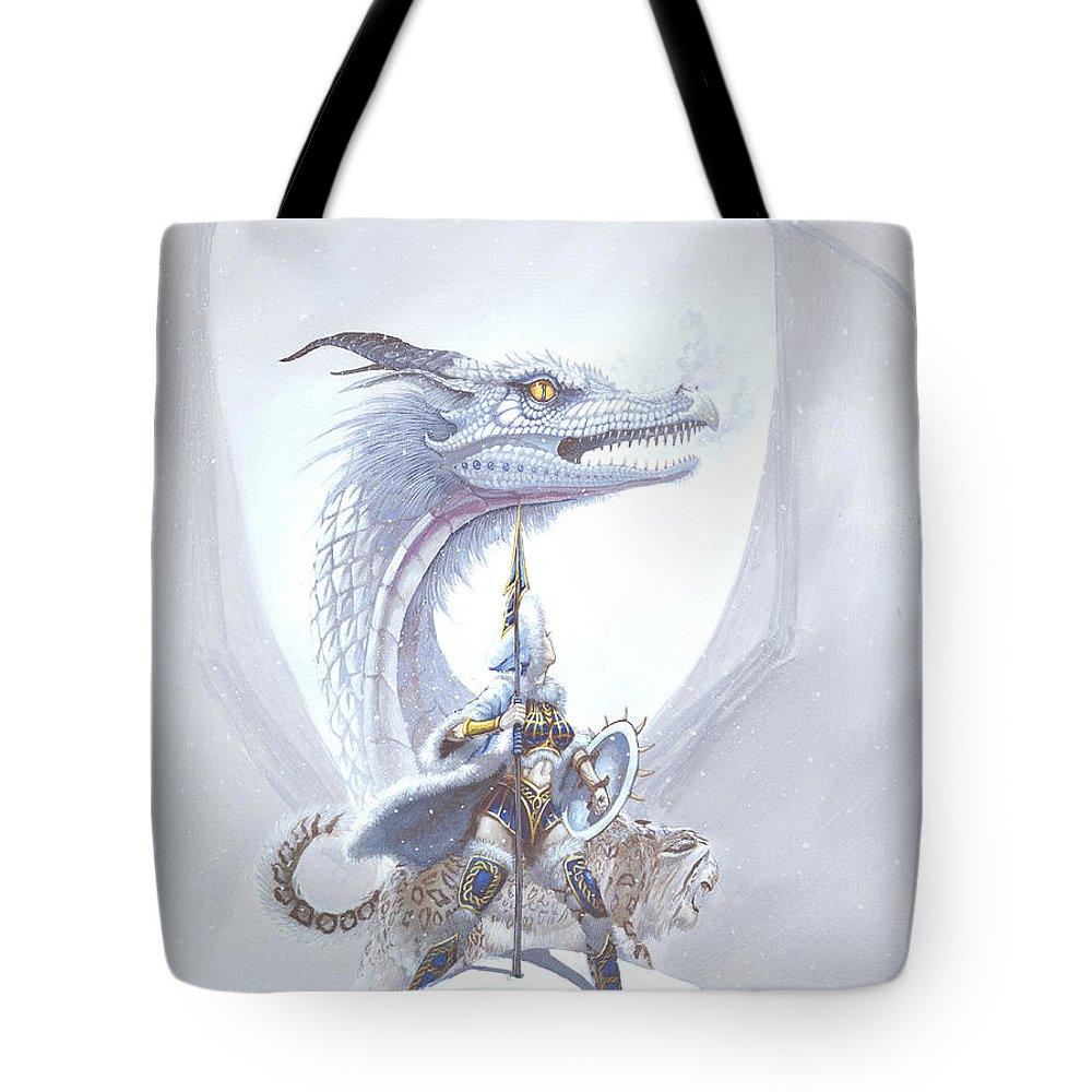 Dragon Tote Bag featuring the painting Polar Princess by Stanley Morrison