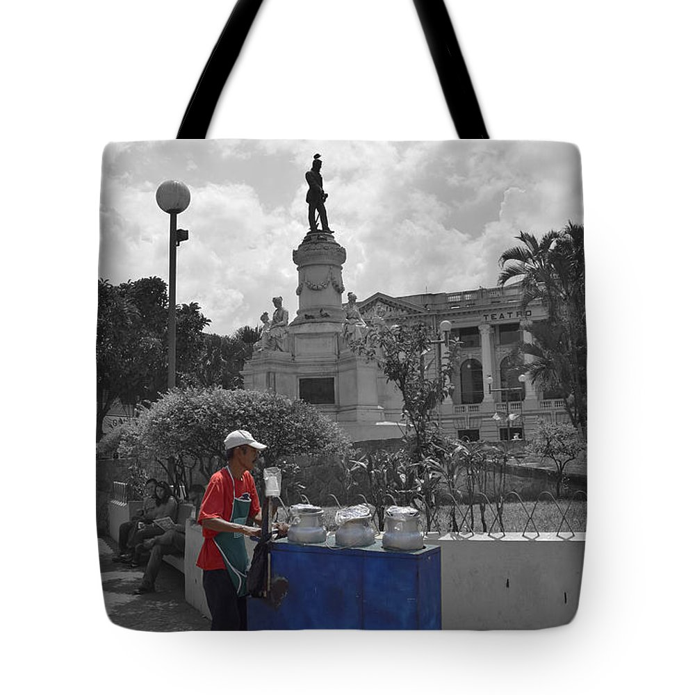Centro Historico Tote Bag featuring the photograph Poleada Vendor by Totto Ponce