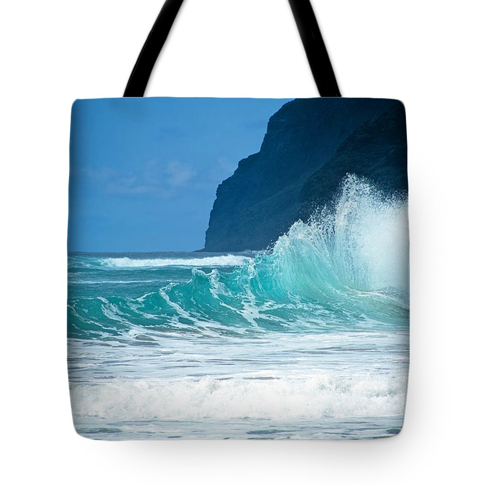Polihale Beach Tote Bag featuring the photograph Polihale Beach by Kevin Smith