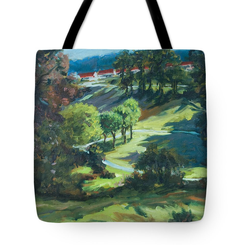 Park Tote Bag featuring the painting Polin Springs by Rick Nederlof