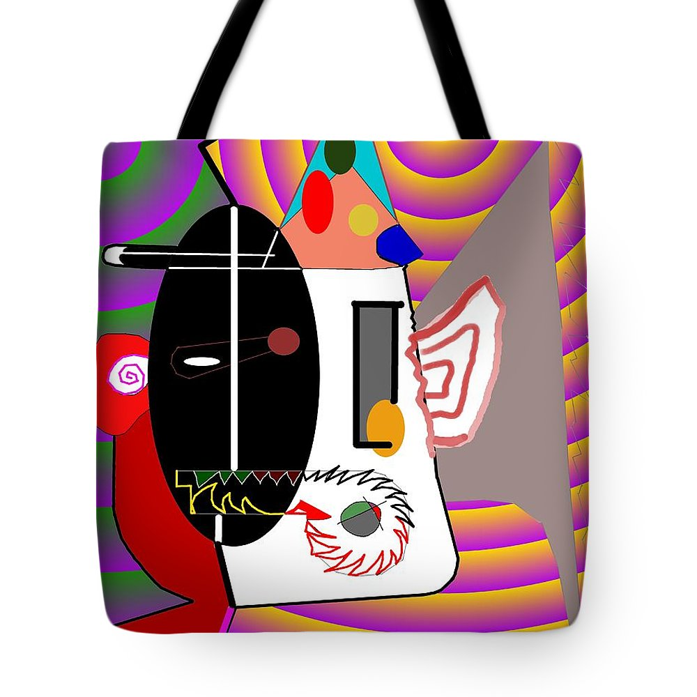 Politic Tote Bag featuring the digital art Politics by Helmut Rottler