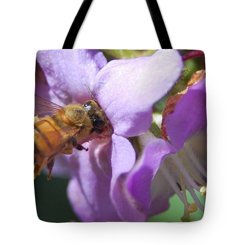 Bee Tote Bag featuring the photograph Pollinating 5 by Amy Fose