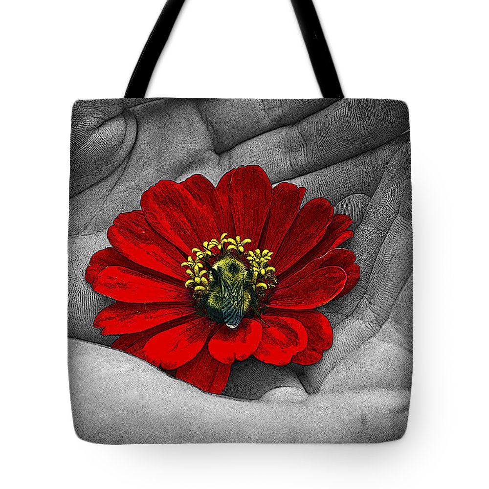 Animal Tote Bag featuring the photograph Pollination by Karl Huggins