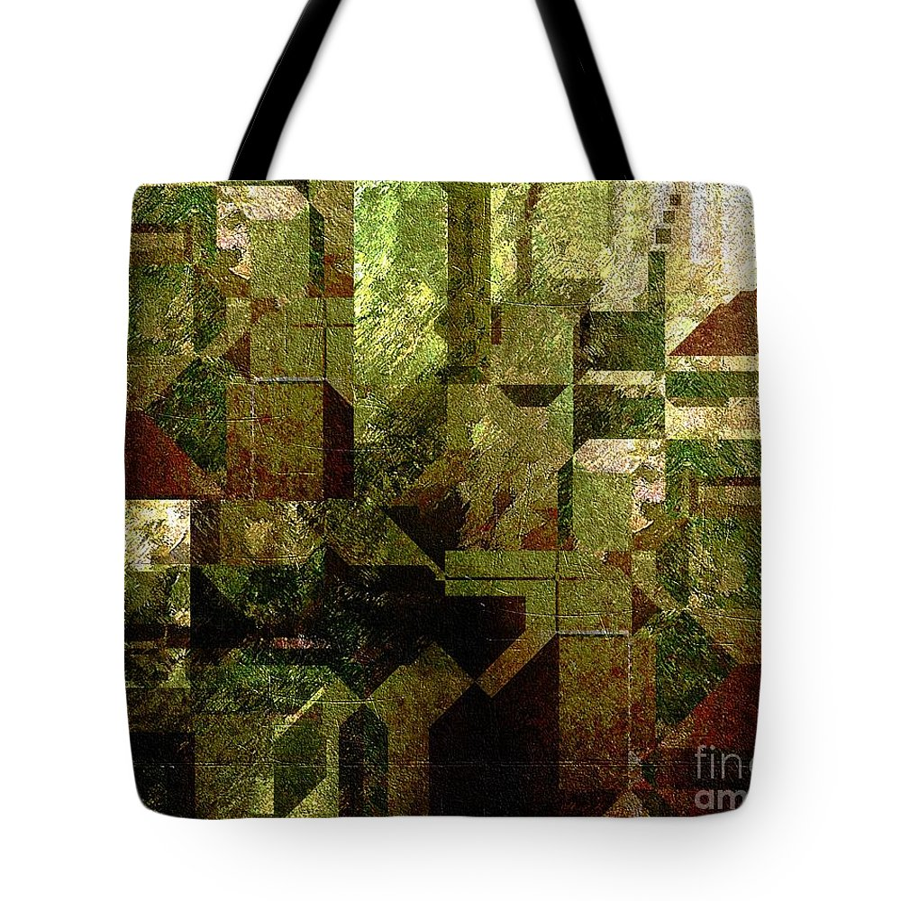 Abstract Tote Bag featuring the painting Pollution by RC DeWinter