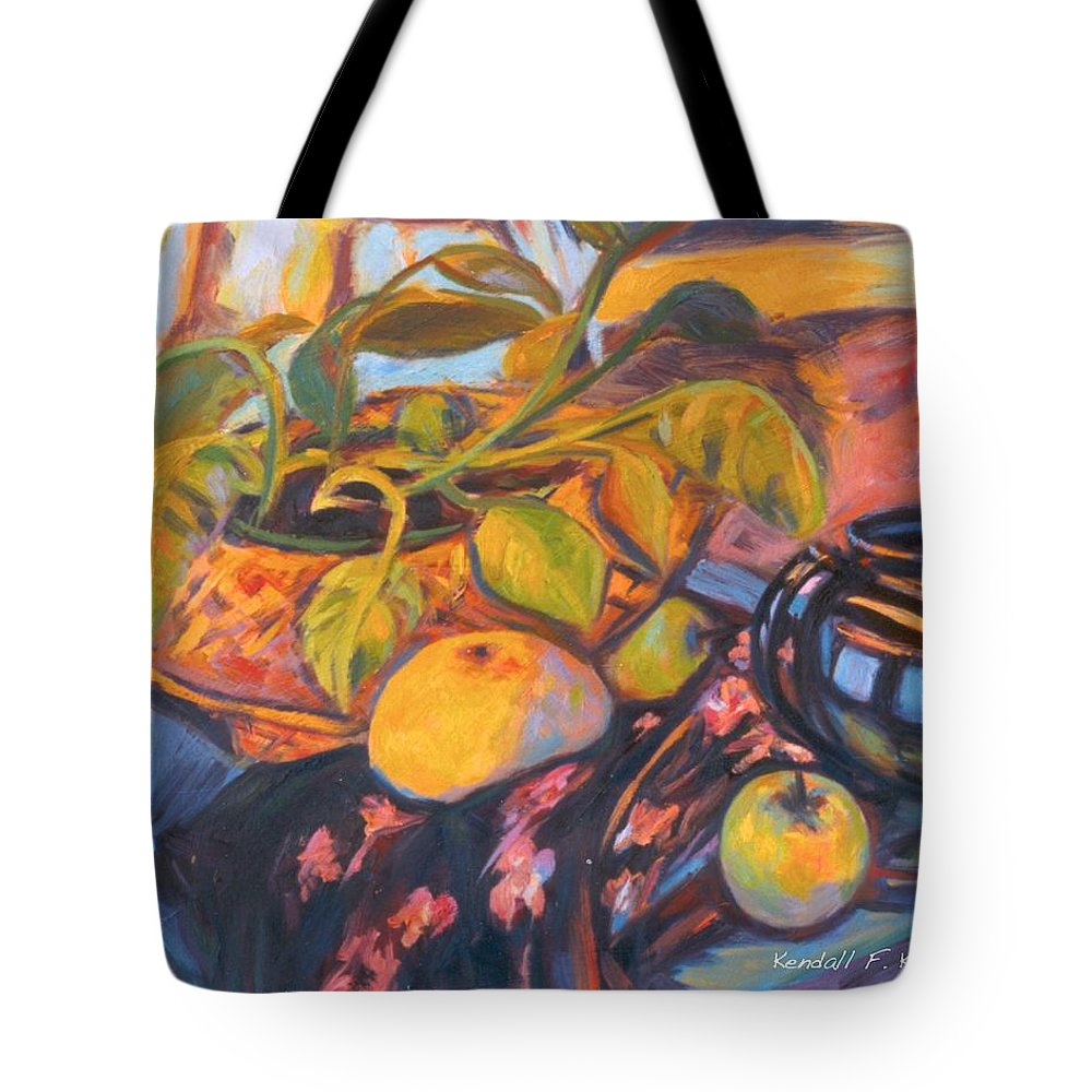 Still Life Tote Bag featuring the painting Pollys Plant by Kendall Kessler
