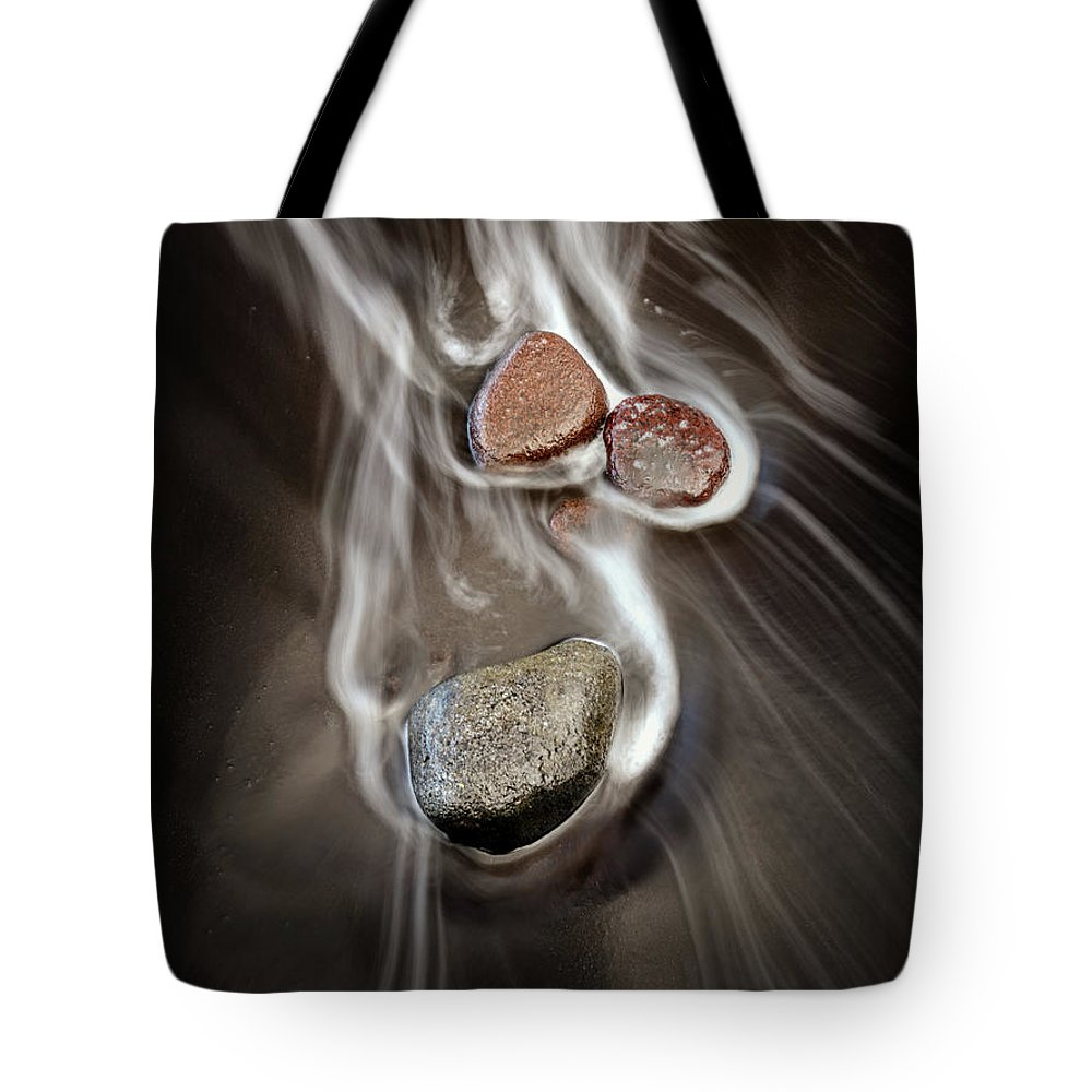 Hawaii Tote Bag featuring the photograph Pololu Valley Stones by Christopher Johnson