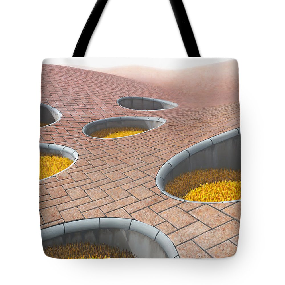 Architecture Tote Bag featuring the painting Polytrichum Antrum by Patricia Van Lubeck