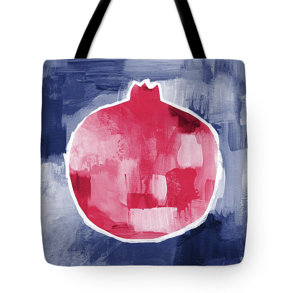 Pomegranate Tote Bag featuring the mixed media Pomegranate- Art By Linda Woods by Linda Woods