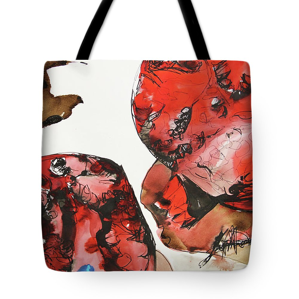 Pomegranate Tote Bag featuring the painting Pomegranate by Joseph Demaree