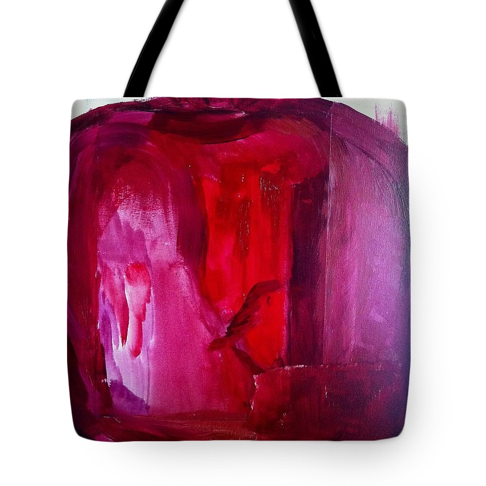 Pomegranate Tote Bag featuring the painting Pomegranate by Solenn Carriou