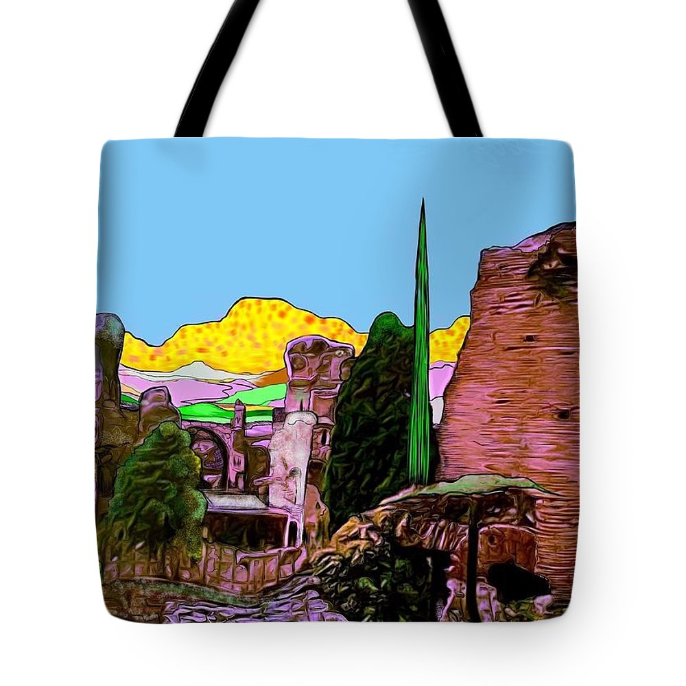 Italy Tote Bag featuring the digital art Pompeii by Jack Monninger