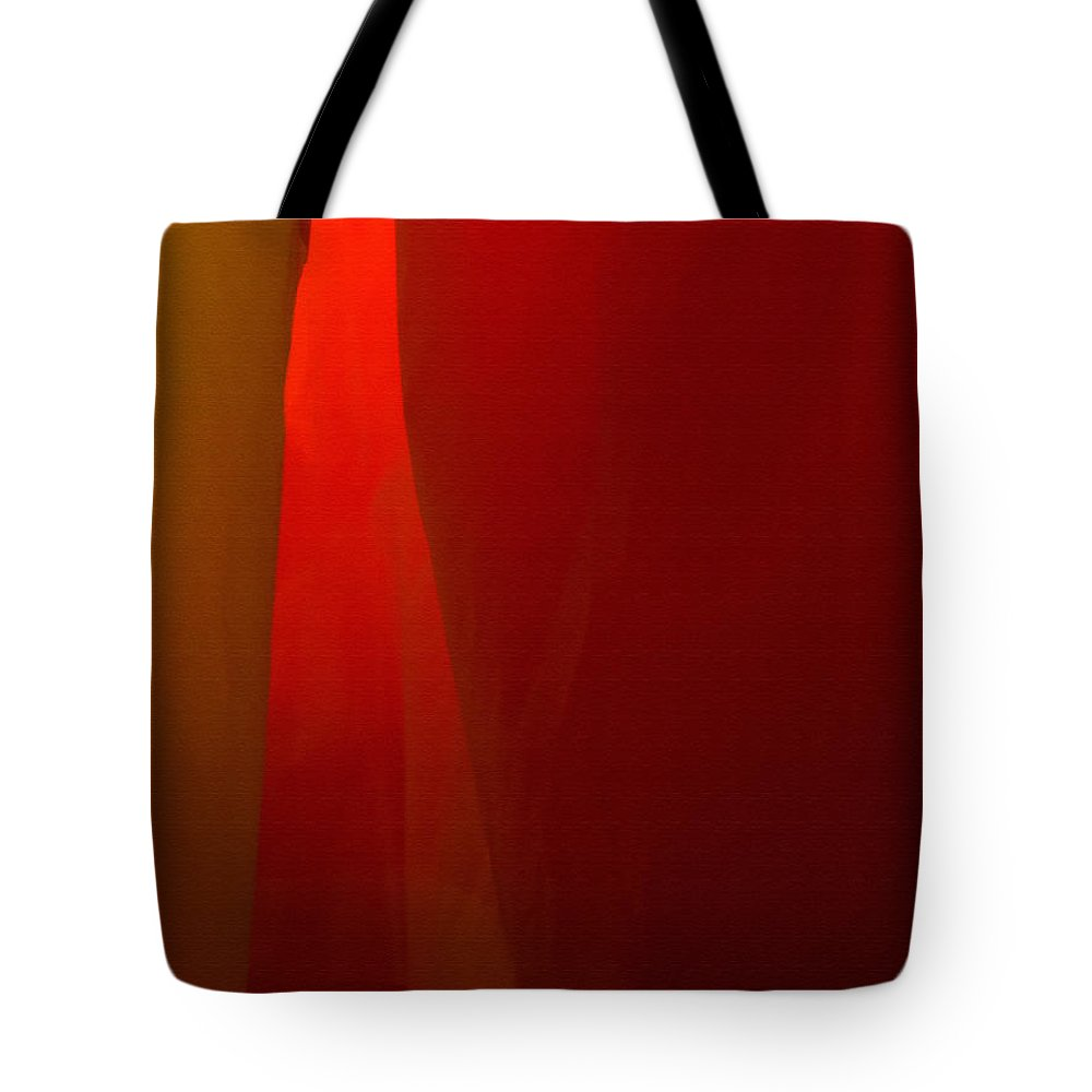 Abstract Tote Bag featuring the photograph Poncho Abstract 1 by Jeff Breiman