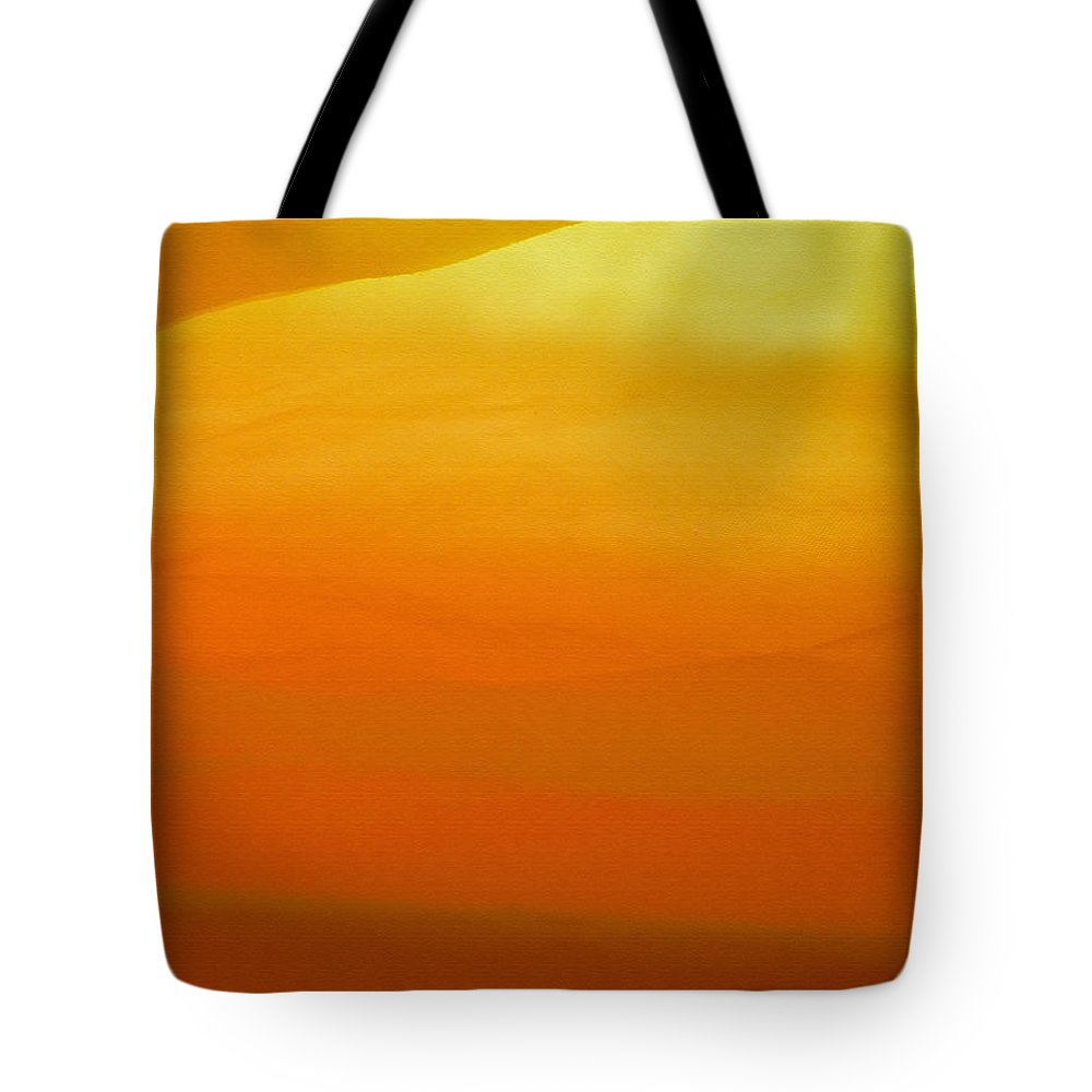 Yellow Tote Bag featuring the photograph Poncho Abstract 10 by Jeff Breiman