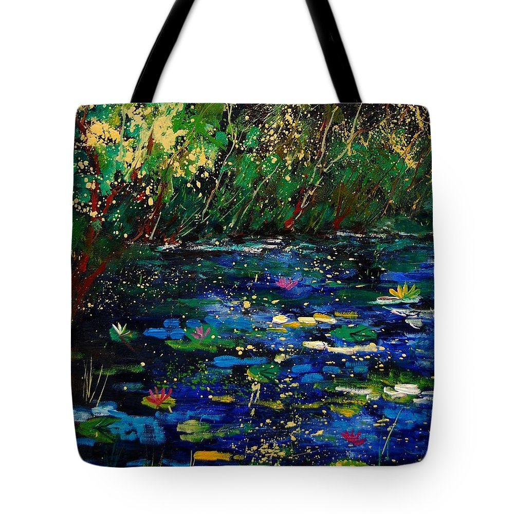 Water Tote Bag featuring the painting Pond 459030 by Pol Ledent
