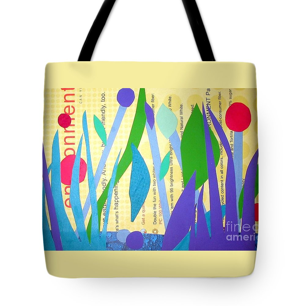 Landscape Tote Bag featuring the mixed media Pond Life by Debra Bretton Robinson