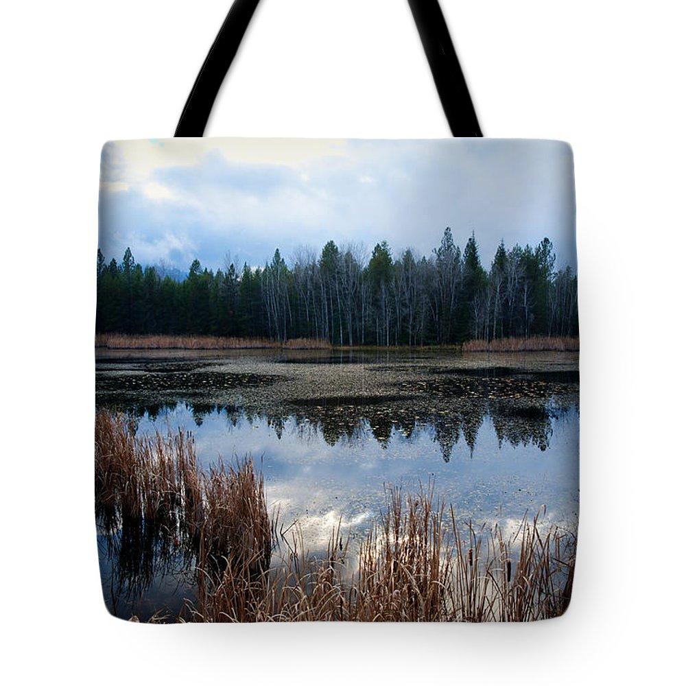 Northeast Washington Tote Bag featuring the photograph Pond On The Pend Orielle by Idaho Scenic Images Linda Lantzy