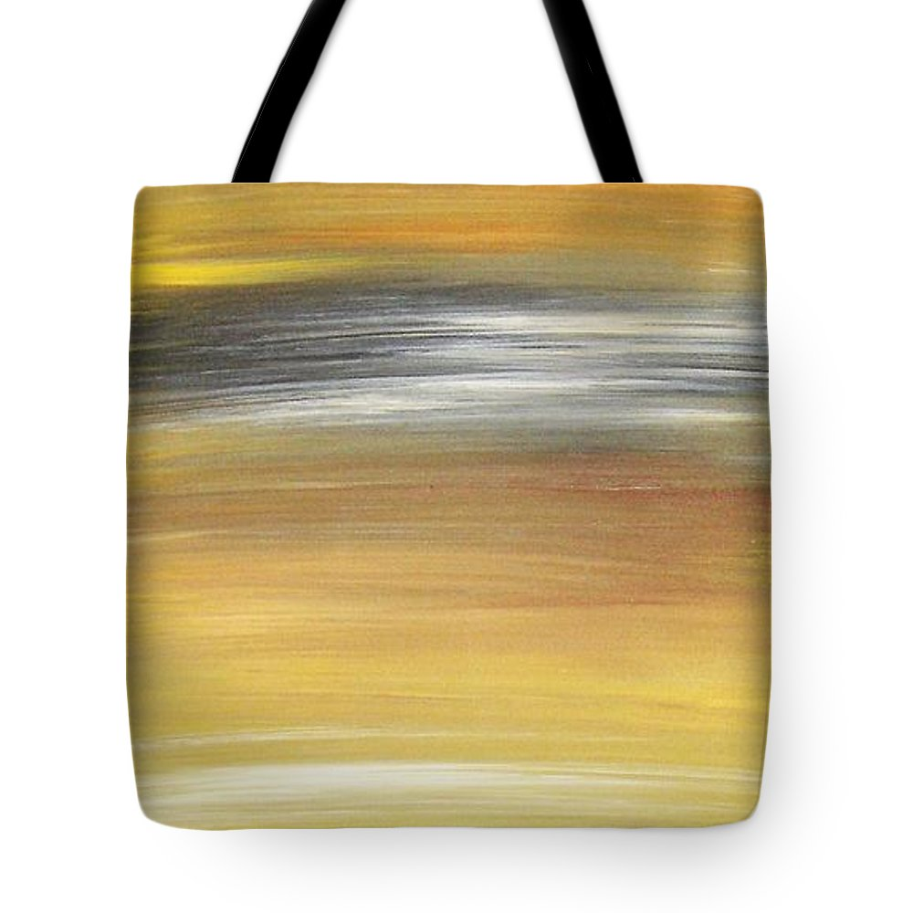 Waves Tote Bag featuring the painting Pond by Todd Hoover