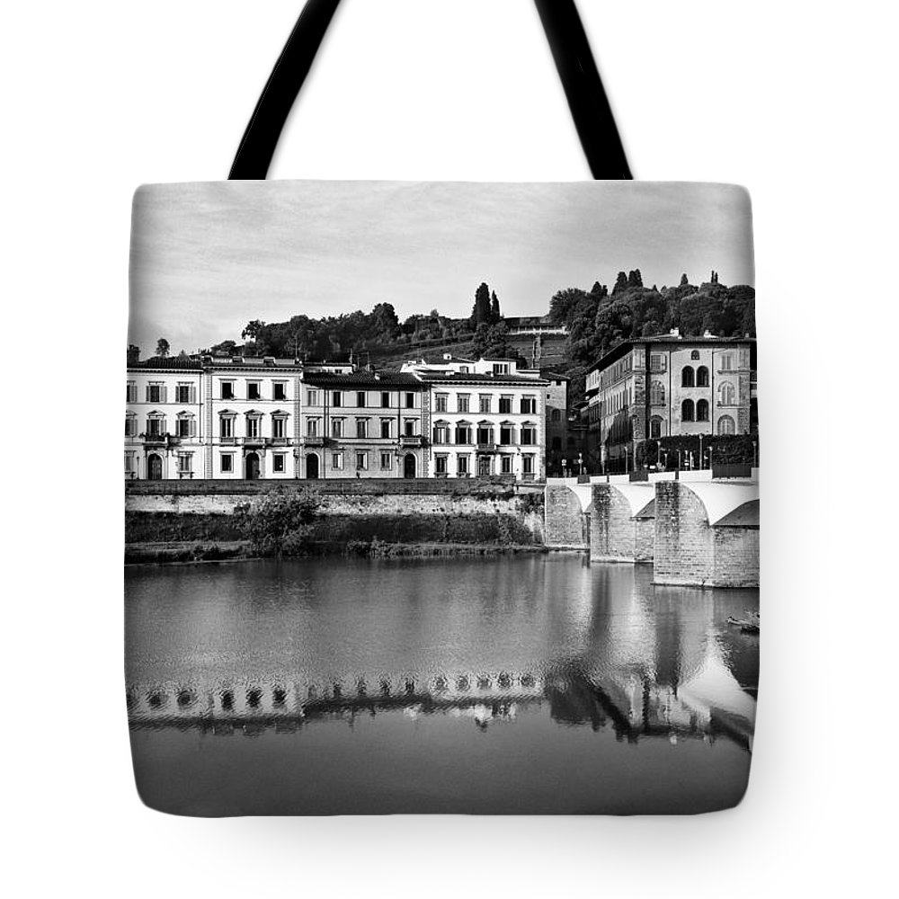 Ponte Alla Grazie Tote Bag featuring the photograph Ponte Alla Grazie by Mick Burkey