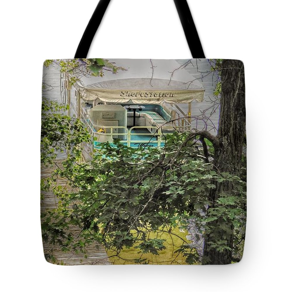 Lake Tote Bag featuring the photograph Pontoon by Curtis Tilleraas