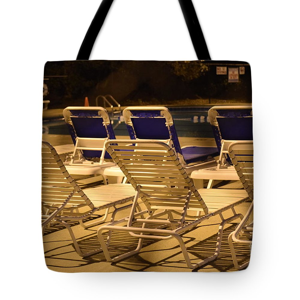 Pool Tote Bag featuring the photograph Pool Side by Anita Goel